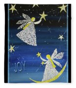 Angels, Joy, Lucky Stars Fleece Blanket