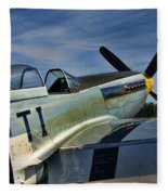 Angels Playmate P-51 Fleece Blanket