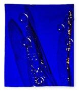 Angels Wings Blue Fleece Blanket