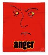Anger Fleece Blanket