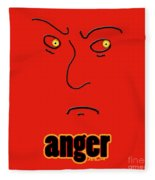 Anger Fleece Blanket