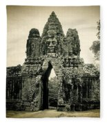 Angkor Thom Southern Gate Fleece Blanket