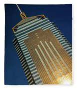 Angled View Of Central Plaza At Sunset Fleece Blanket