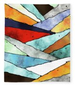 Angles Of Textured Colors Fleece Blanket