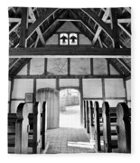 Anglican Church At James Fort Interior Fleece Blanket