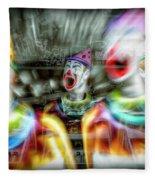 Angry Clowns Fleece Blanket