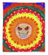 Angry Flower Fleece Blanket