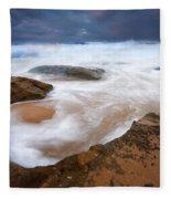 Angry Sea Fleece Blanket