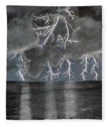Angry Skies Fleece Blanket
