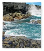 Angry Surf Fleece Blanket