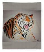 Angry Tiger Fleece Blanket