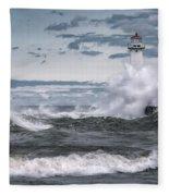 Angry Waters Of Lake Ontario Fleece Blanket