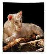 Animal - Cat - A Baby Snow Tiger Fleece Blanket