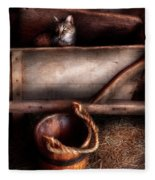 Animal - Cat - Push Me Fleece Blanket