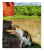 Animal - Cat - The Mouser Fleece Blanket