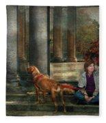 Animal - Dog - Hello There Fleece Blanket