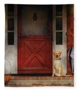Animal - Dog - Waiting For My Master Fleece Blanket