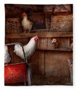Animal - Chicken - The Duck Is A Spy  Fleece Blanket