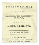 Animal Electricity, Title Page Fleece Blanket