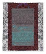 Animal  Ketubah- Reformed And Interfaith Version Fleece Blanket