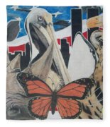 Animals Of Freedom  Fleece Blanket