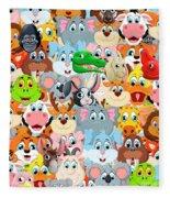 Animals Zoo Fleece Blanket