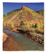 Animas River In Silverton Fleece Blanket
