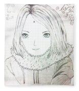Anime Drawing  Fleece Blanket