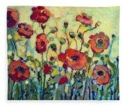 Anitas Poppies Fleece Blanket