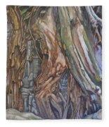 Ankor Temple Trees  Fleece Blanket