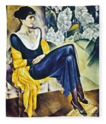 Anna Akhmatova (1889-1967) Fleece Blanket