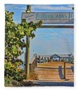 Anna Maria City Pier Landmark Fleece Blanket