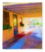 Anna Maria Elementary Office Hallway C130662 Fleece Blanket