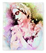 Anna Pavlova Whimsical Ballerina Fleece Blanket