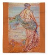Annabel Lee James Abbott Mcneill Whistler Fleece Blanket