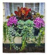 Annapolis Flower Box Fleece Blanket