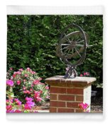 Annapolis Garden Ornament Fleece Blanket