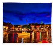 Annapolis Magic Night Fleece Blanket