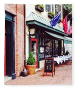 Annapolis Md - Restaurant On State Circle Fleece Blanket