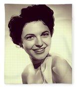 Anne Bancroft, Vintage Actress Fleece Blanket
