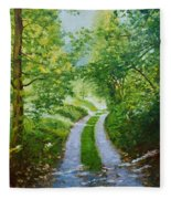 Annecy Forest Afternoon Fleece Blanket