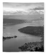 Annecy Lake Fleece Blanket