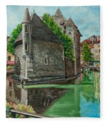 Annecy-the Venice Of France Fleece Blanket