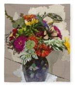 Anne's Flowers Fleece Blanket