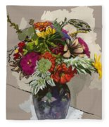 Anne's Flowers Fleece Blanket