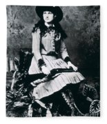 Annie Oakley  Star Of Buffalo Bill's Wild West Show Fleece Blanket