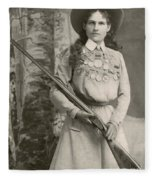 Annie Oakley With A Rifle, 1899 Fleece Blanket