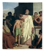 Annointing Of David By Saul Fleece Blanket