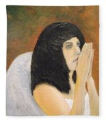Annolita Praying Fleece Blanket