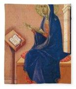 Annunciation Fragment 1311 Fleece Blanket